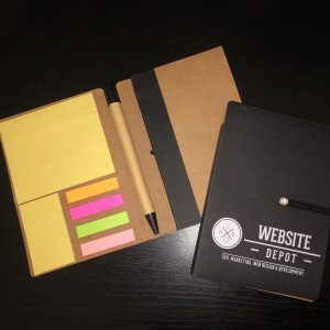 branded pocket notebook
