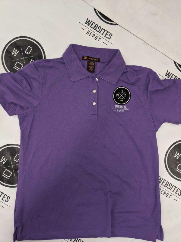 Women Polo T-shirt Purple